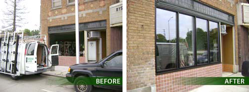 before and after glass windows